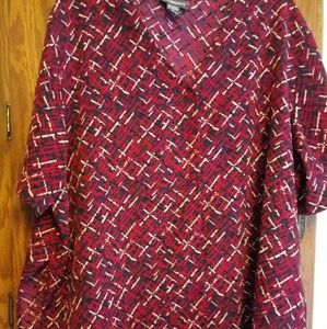 Notations 3x 100% Polyester SS Blouse